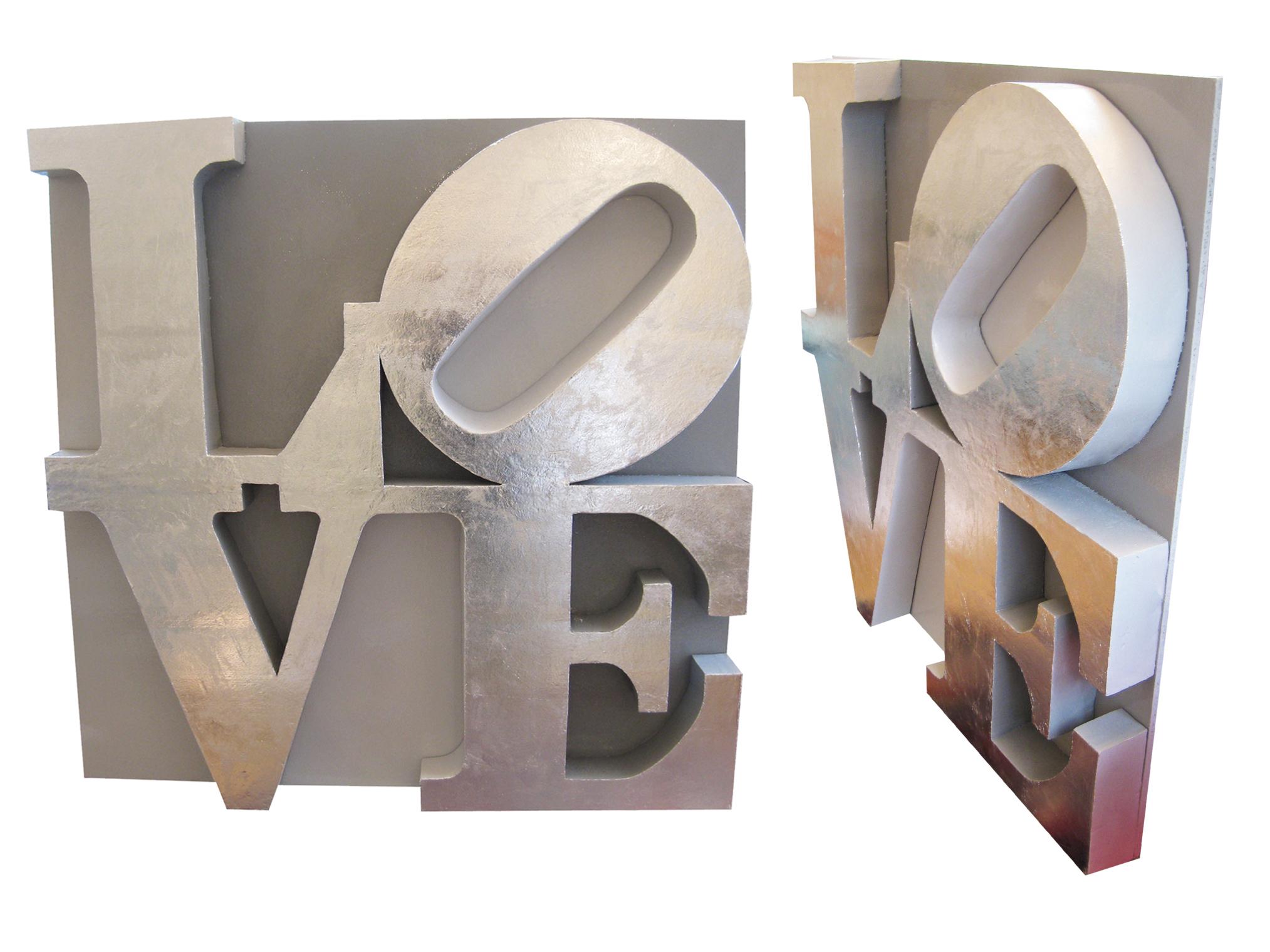 Love 3D con foglia d\'argento - LarettArt